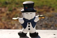 Happy Snowman decoration Stock Photo
