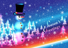 Happy SNOWMAN Greeting Royalty Free Stock Image
