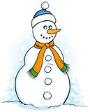 Happy snowman illustration Royalty Free Stock Photo