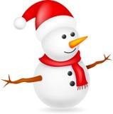 Happy snowman. Illustration of Happy snowman isolated on white Stock Photos