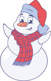 Happy snowman Stock Photography