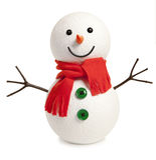 Happy snowman isolated Stock Image