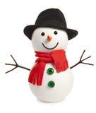 Happy snowman isolated Stock Photo