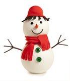 Happy snowman isolated Royalty Free Stock Photos