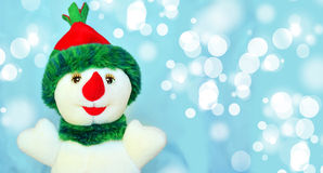 Happy snowman. And marry christmas royalty free stock photography