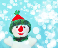 Happy snowman. And marry christmas stock photos