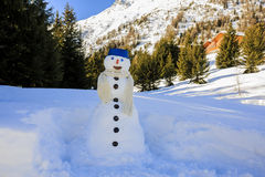 Happy snowman. Stock Photos