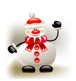 Happy snowman Royalty Free Stock Photos