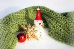 Happy snowman in winter background Royalty Free Stock Photography