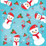 Happy snowmans Stock Images