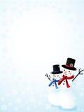 Happy snowmen Royalty Free Stock Photos