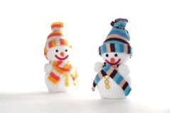 Happy Snowmen Stock Photos