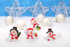 Happy Snowmen Stock Images
