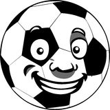 Happy soccer ball Royalty Free Stock Image