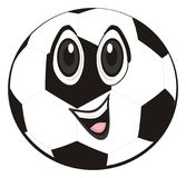 Funny soccer ball. Happy soccer ball on a white background Vector Illustration