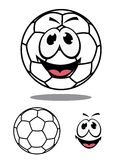 Happy soccer or football ball character Stock Photography