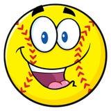Happy Softball Cartoon Character Royalty Free Stock Images