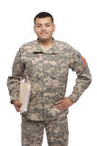 Soldier with documents Stock Photos
