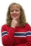 happy something thirty woman Στοκ εικόνα με δικαίωμα ελεύθερης χρήσης