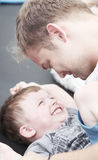 Happy son with father. Stock Photo