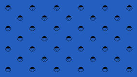 HAPPY SON PATTERN. Happy boy with smiles are arranged as pattern on the blue background for computer monitor or wall paper Stock Images