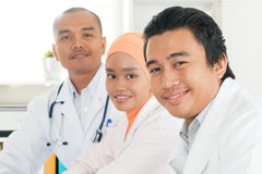Happy Southeast Asian doctors Royalty Free Stock Images