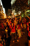 Happy Spain fans Royalty Free Stock Image