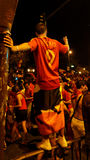 Happy spain fans Royalty Free Stock Images