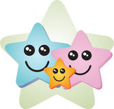 Happy special star family. Happy special smiling star family togetherness illustration Royalty Free Stock Photography