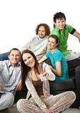 Happy spectators Stock Photo