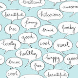 Happy speech bubbles pattern Royalty Free Stock Image