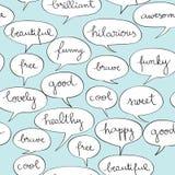 Happy speech bubbles pattern Royalty Free Stock Image