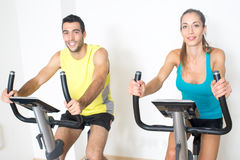 Happy spinning exercise Royalty Free Stock Photo