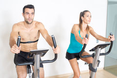 Happy spinning exercise Stock Photography