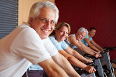 Happy spinning exercises Stock Images