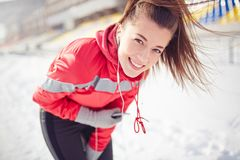 Happy sportive girl Stock Photo