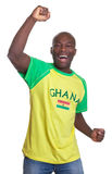 Happy sports fan from Ghana Royalty Free Stock Photography