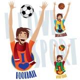 Happy sports fans Royalty Free Stock Photos
