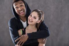 Happy sportsmen couple Stock Images