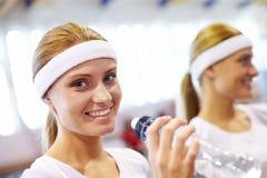 Happy sportswoman Stock Images