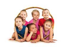 Happy sporty children Royalty Free Stock Photo