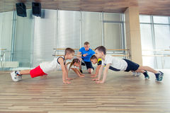 Free Happy Sporty Children In Gym. Stock Photography - 72897712