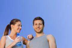 Happy sporty couple Royalty Free Stock Photo