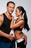 Happy sporty couple Stock Photography