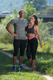 Happy Sporty Couple Portrait Royalty Free Stock Images