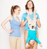 Happy sporty family Royalty Free Stock Image