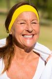 Happy sporty mature woman portrait Royalty Free Stock Photo