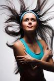 Happy sporty woman Royalty Free Stock Photos