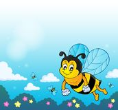 Happy spring bee topic image 2 stock illustration