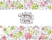 Happy spring card vector illustration
